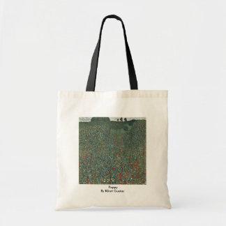 Poppy By Klimt Gustav Canvas Bags