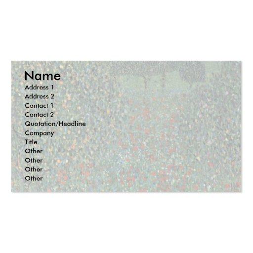 Poppy By Klimt Gustav Double-Sided Standard Business Cards (Pack Of 100)