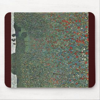 Poppy By Klimt Gustav Mouse Pad