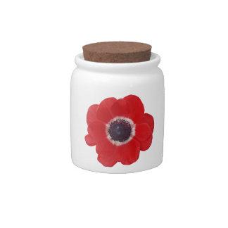Poppy Candy Jar