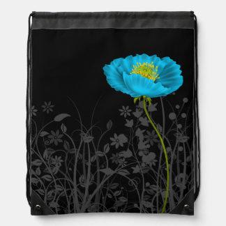 Poppy * choose background color drawstring bag