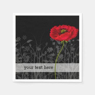 poppy * choose background color paper napkin