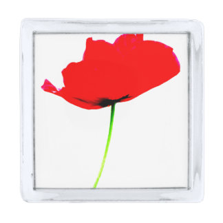 POPPY Collection 01 Lapel Pins Silver Finish Lapel Pin