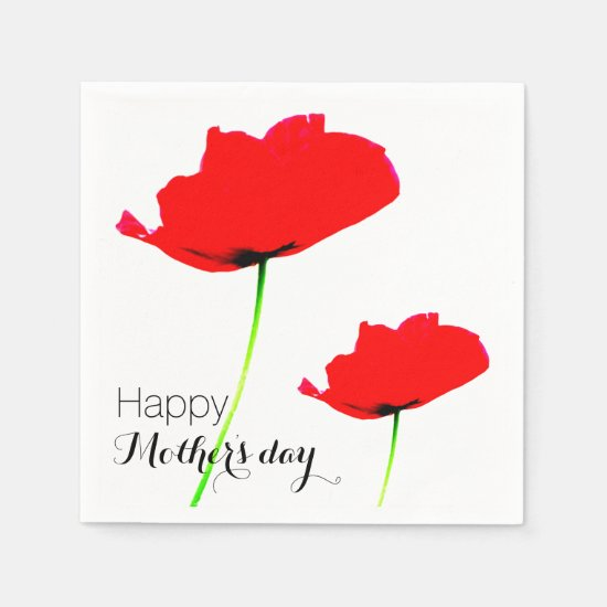 POPPY Collection 01 Mother's day Paper Napkins