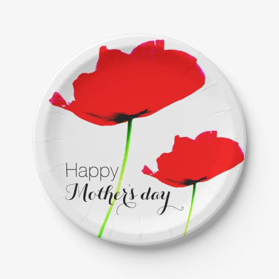 POPPY Collection 01 Mother's day Paper Plates