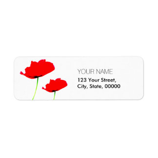 POPPY Collection 01 Return Address Labels