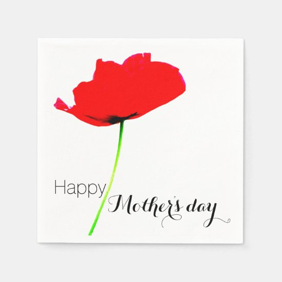 POPPY Collection 02 Mother's day Paper Napkins