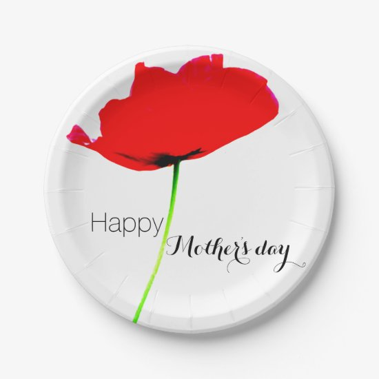 POPPY Collection 02 Mother's day Paper Plates
