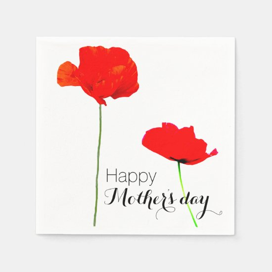 POPPY Collection 03 Mother's day Paper Napkins
