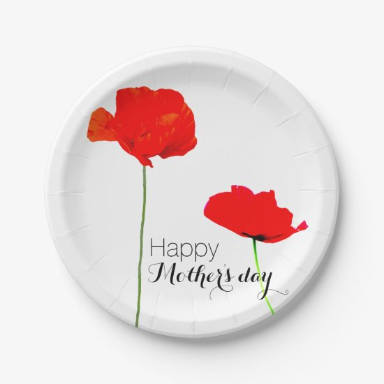 POPPY Collection 03 Mother's day Paper Plates