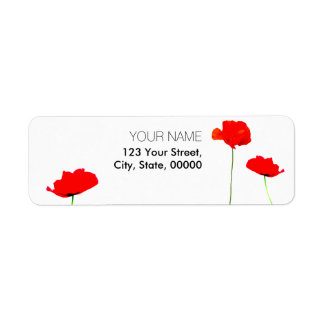 POPPY Collection 03 Return Address Labels