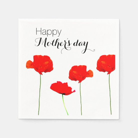 POPPY Collection 04 Mother's day Paper Napkins