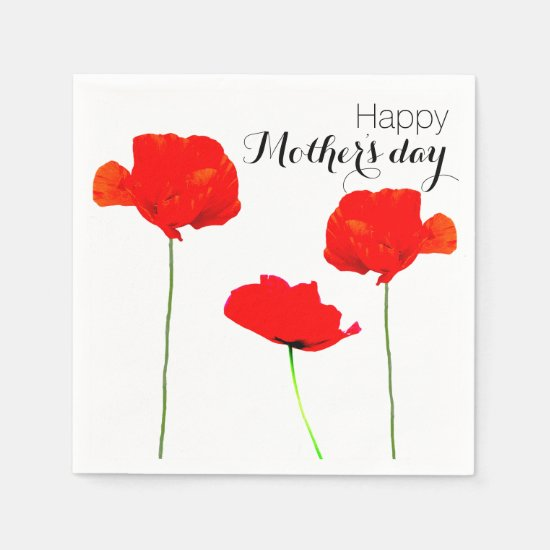 POPPY Collection 05 Mother's day Paper Napkins