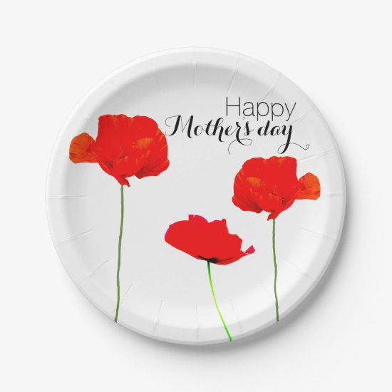 POPPY Collection 05 Mother's day Paper Plates