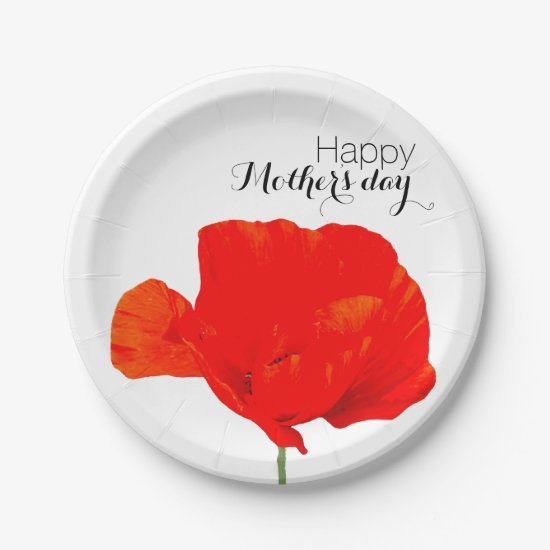 POPPY Collection 06 Mother's day Paper Plates