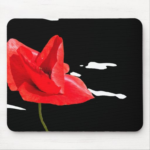 Poppy collection mouse pad