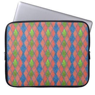 Poppy Colours Faux-patchwork Laptop Sleeve