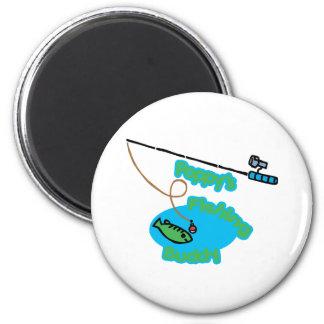 Poppy' compinche de la pesca de s imán redondo 5 cm