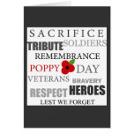 Poppy day words - Card