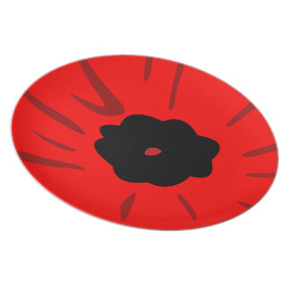 Poppy drawing dinner plate