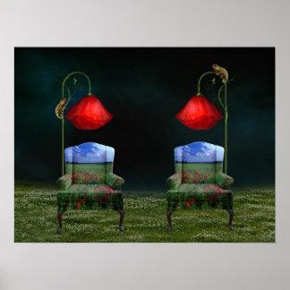 Poppy Dreams & Chameleon Schemes Poster