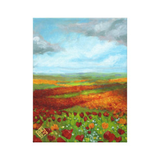 Poppy Dreams Giclee Stretched Canvas Print