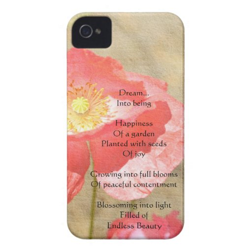 Poppy Expressions Happiness iPhone4 Case iPhone 4 Case-Mate Case