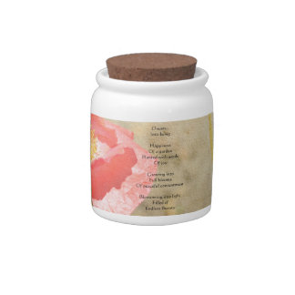 Poppy Expressions Happiness Poem Candy Jar