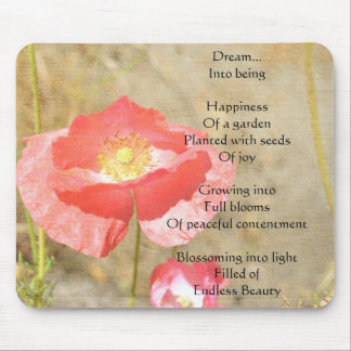 Poppy Expressions Happiness Poem Mousepad