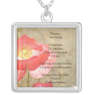 Poppy Expressions Happiness Poem Necklace