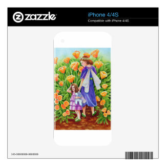 Poppy Fairies Unicorn Toy Decal For iPhone 4