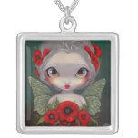 Poppy Fairy NECKLACE poppies gothic flower