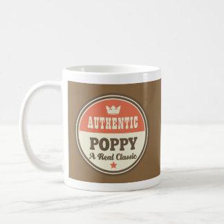 Poppy Father's Day Vintage Mug Coffee Mugs
