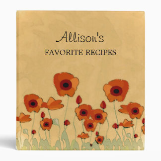Poppy Favorite Recipe Binder