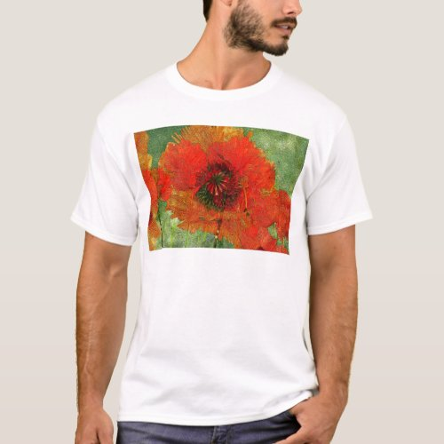 Poppy Field 13 Luscious Red Floral T-Shirt