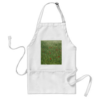 Poppy Field And Springtime Hay Meadow Adult Apron