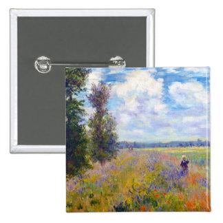 Poppy Field, Argenteuil, 1875 Claude Monet Button