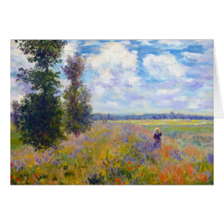 Poppy Field, Argenteuil, 1875 Claude Monet Stationery Note Card