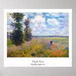 Poppy Field, Argenteuil, 1875 Claude Monet Poster