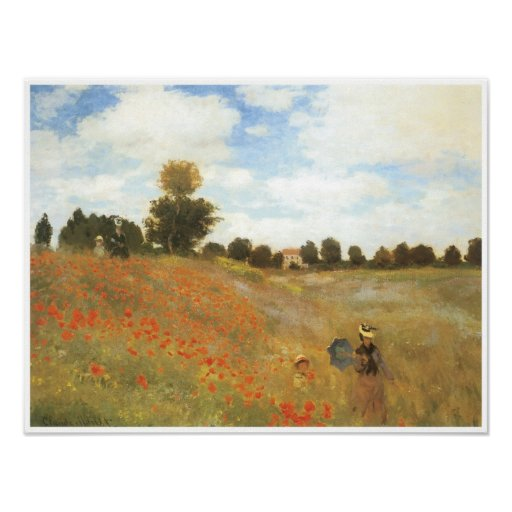Poppy Field at Argenteuil, 1873 Poster