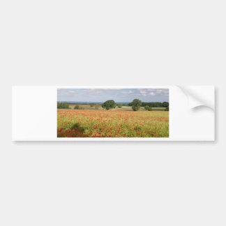 Poppy Field Bumper Sticker