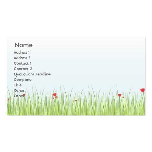 Poppy Field - Business Business Card Templates