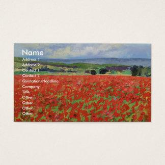 Poppy Field Business Card