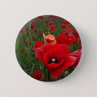 Poppy Field Button Badge