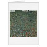 Poppy Field By Gustav Klimt Greeting Card