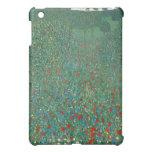 Poppy Field by Gustav Klimt iPad Mini Covers