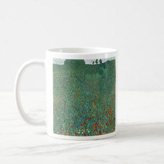 Poppy Field by Gustav Klimt Mugs