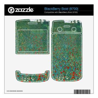 Poppy Field by Gustav Klimt Decal For BlackBerry