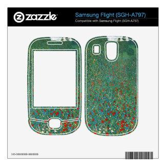 Poppy Field by Gustav Klimt Decal For Samsung Flight