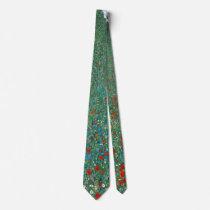 Poppy Field by Gustav Klimt, Vintage Art Nouveau Neck Tie